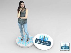 Figurine 3D d'une femme